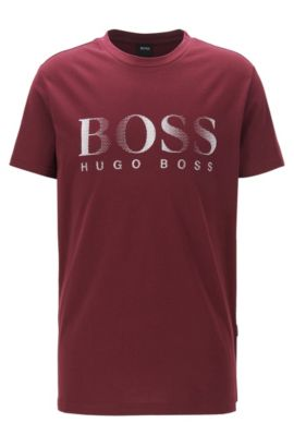 Logo Cotton UV T-Shirt | T-Shirt RN, Dark Red