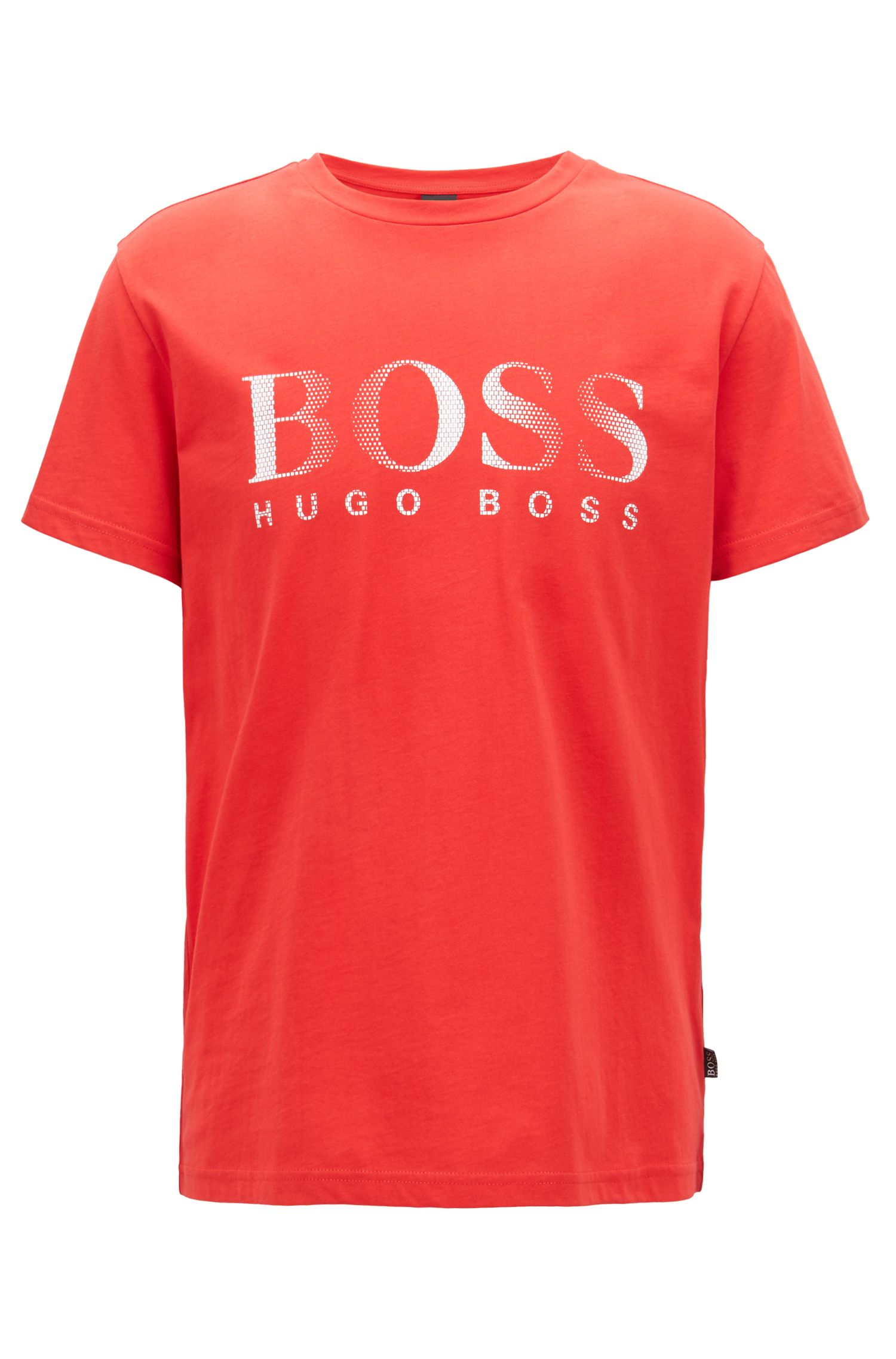 Relaxed-fit cotton T-shirt with UV protection, Red
