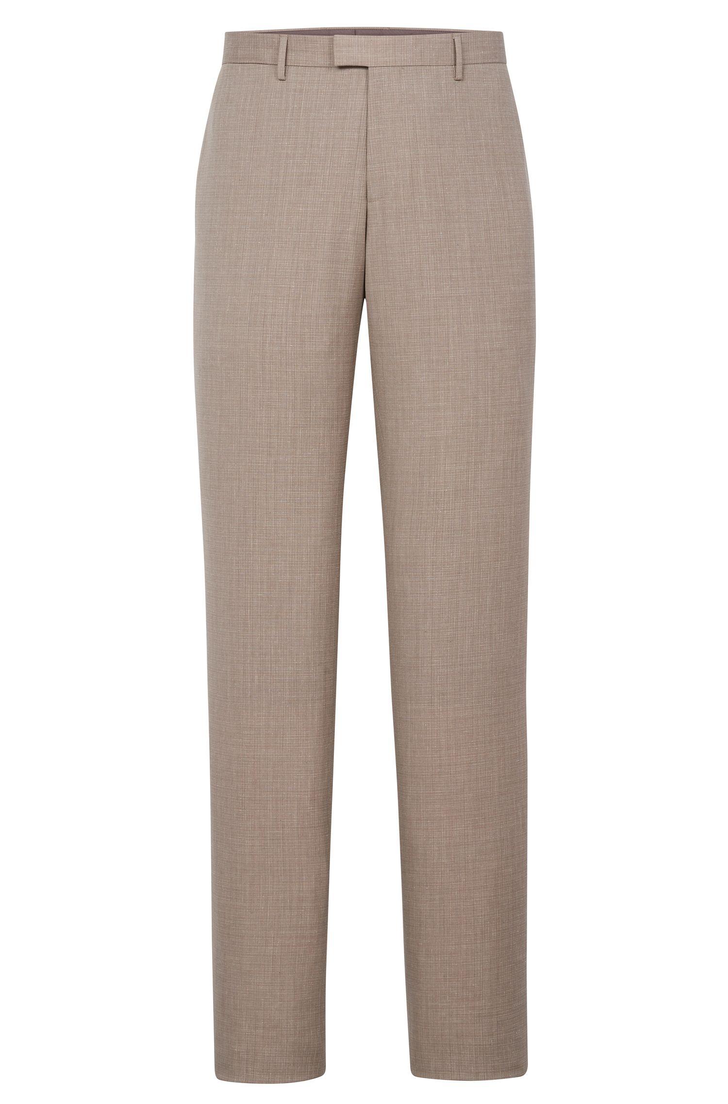 Italian Wool Cotton Silk Linen Dress Pant, Slim Fit | T-Gary