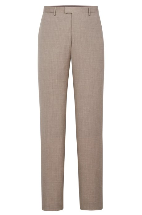 7739ce946 BOSS - Italian Wool Cotton Silk Linen Dress Pant, Slim Fit | T-Gary