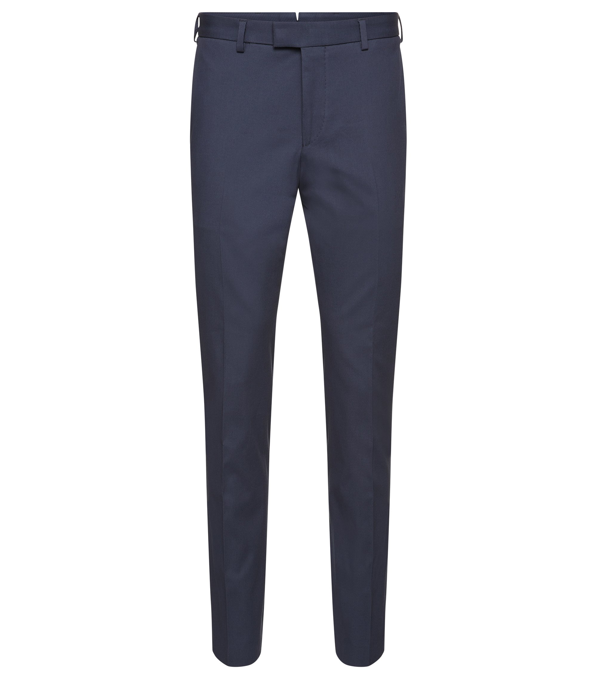 'T-Bak' | Slim Fit, Italian Stretch Cotton Dress Pants, Open Blue