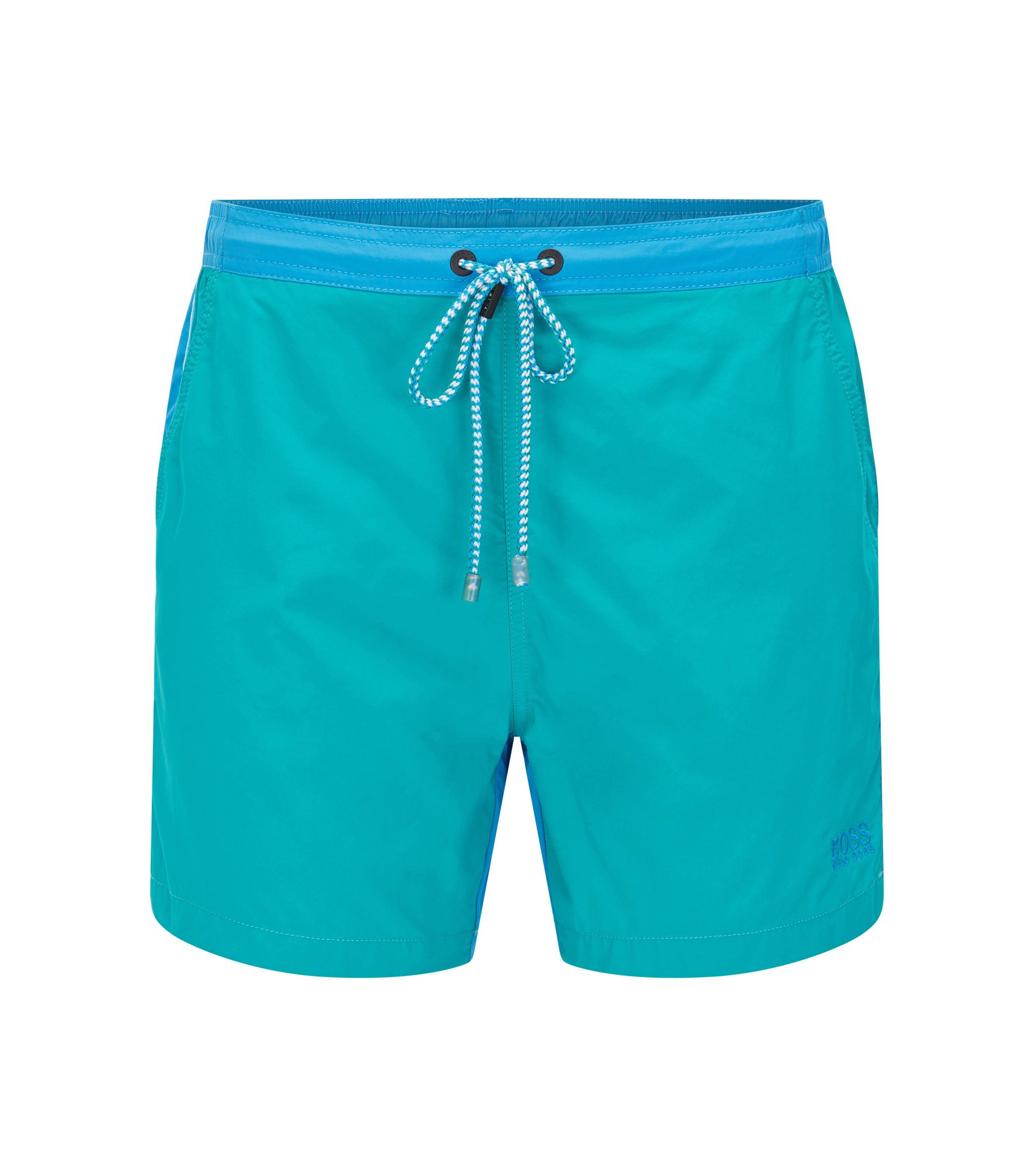 Quick Dry Patterned Swim Trunk | Snapper, Open Blue