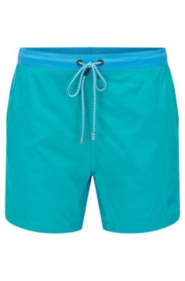 'Snapper' | Quick Dry Patterned Swim Trunks, Open Blue
