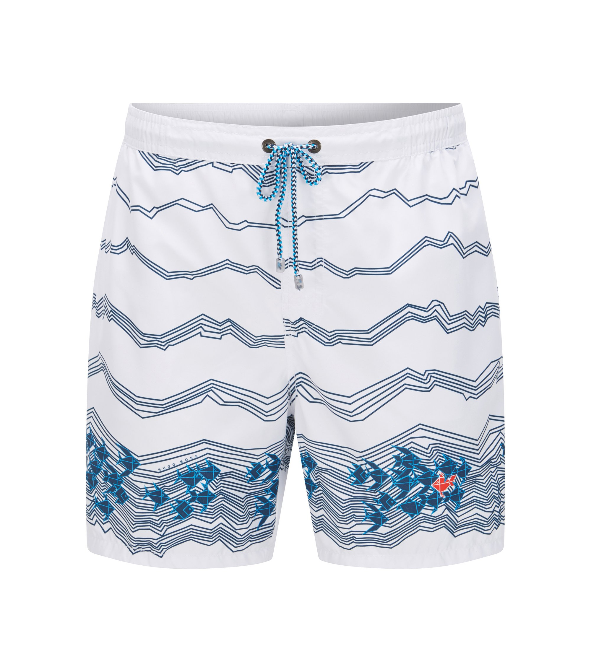 Quick Dry Swim Trunk | Anemonefish, Open White