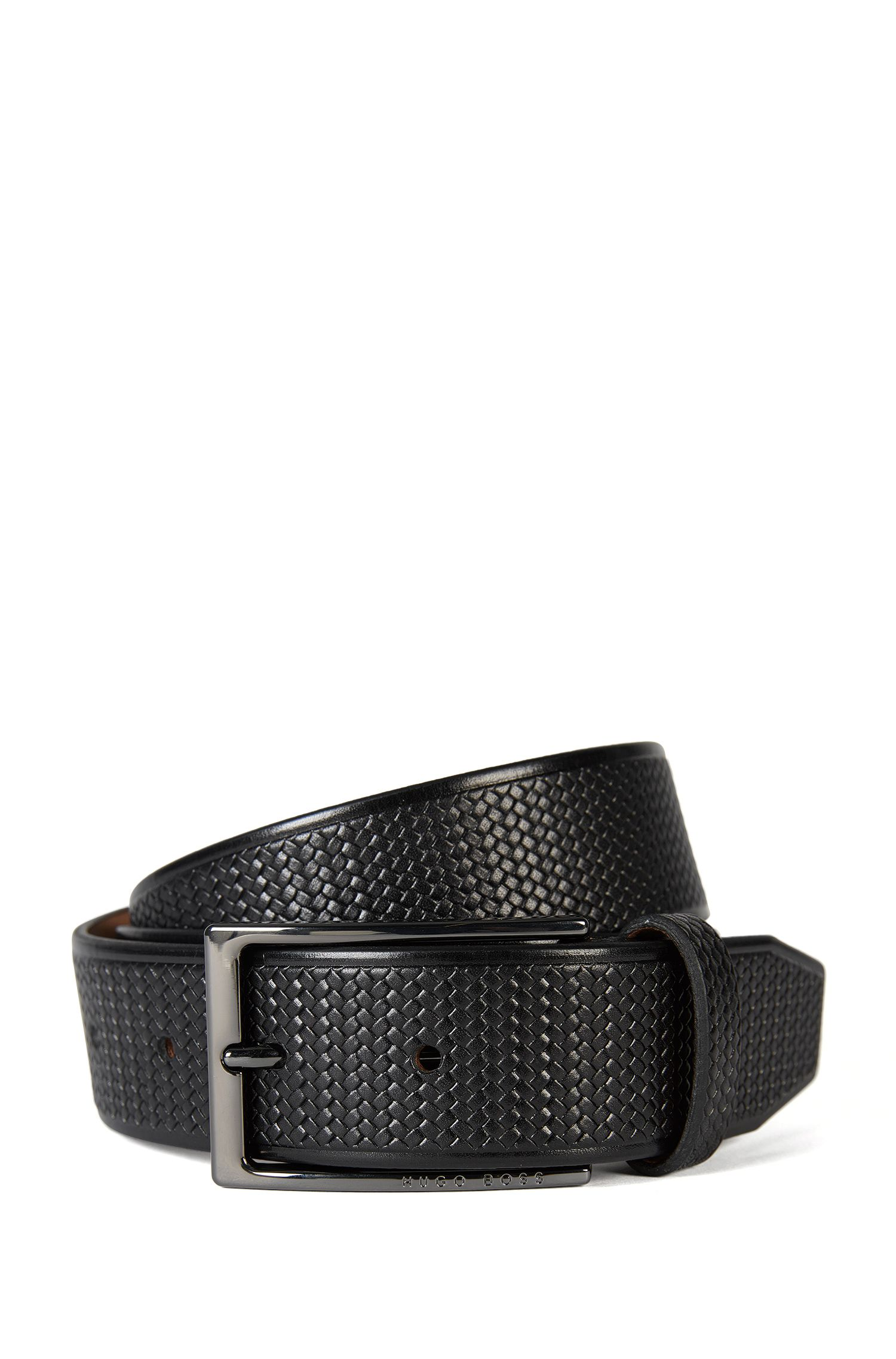 Italian Leather Braided Belt | Claux Sz35 Item