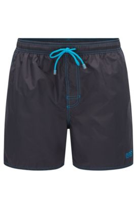 Quick Dry Swim Trunks | Lobster, Charcoal