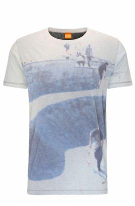 Printed Cotton T-Shirt | Tintype, Light Grey