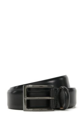 'T-Lavio' | Italian Leather Belt, Black