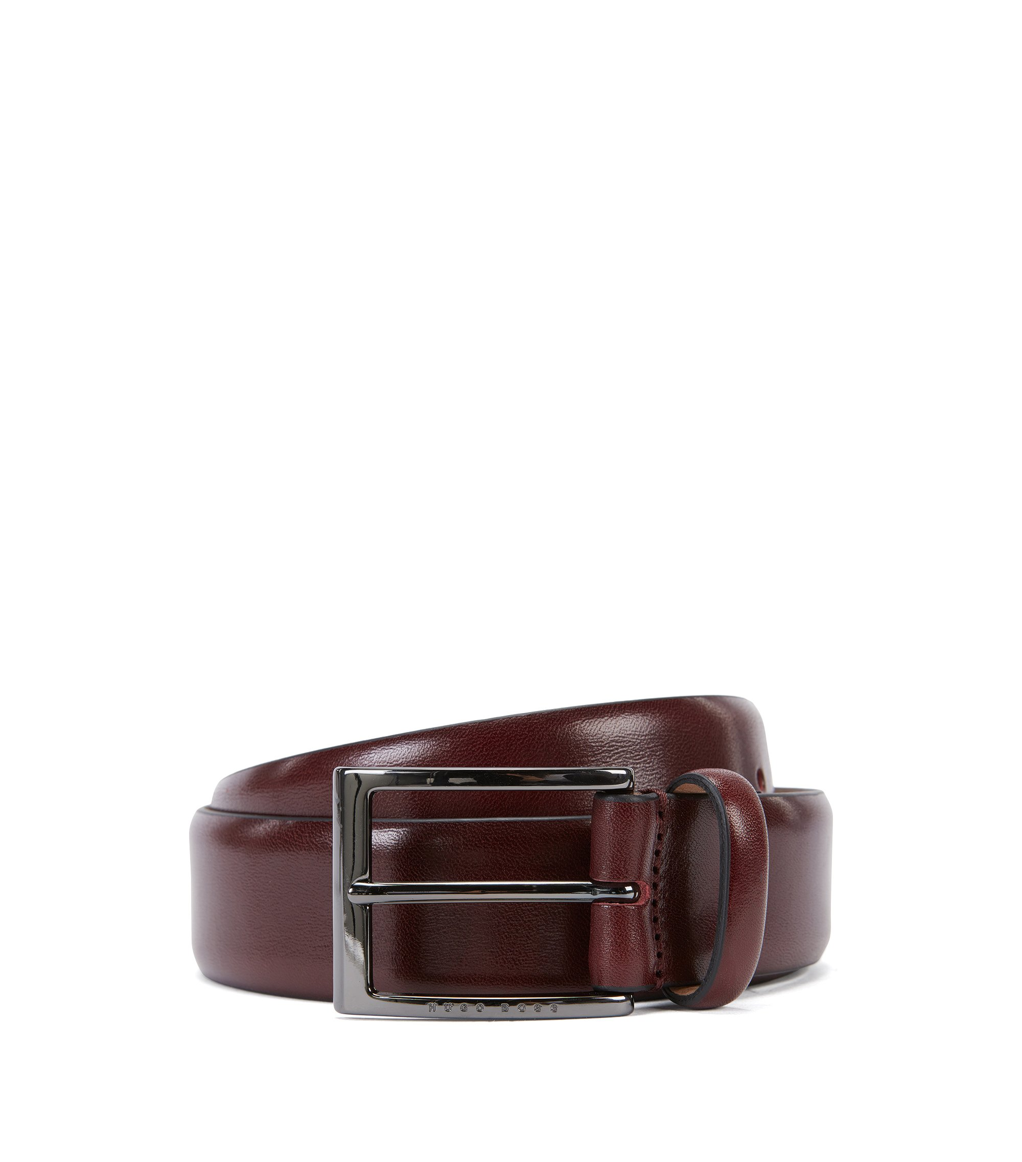Italian Leather Belt | T-Lavio, Dark Red