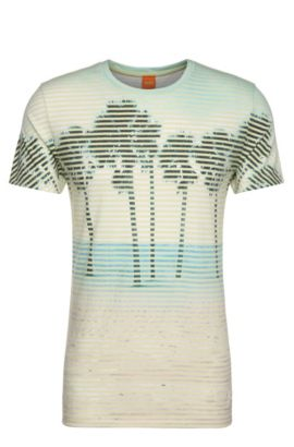 'Telling' | Layered Graphic T-Shirt, Light Yellow