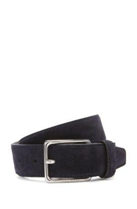 'Catioso Sz Sdpl' | Suede Leather Belt, Dark Blue