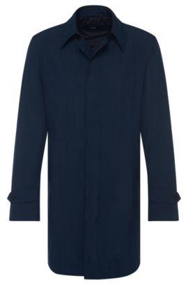 Nylon Blend Packable Water-Repellent Car Coat | Garret, Dark Blue
