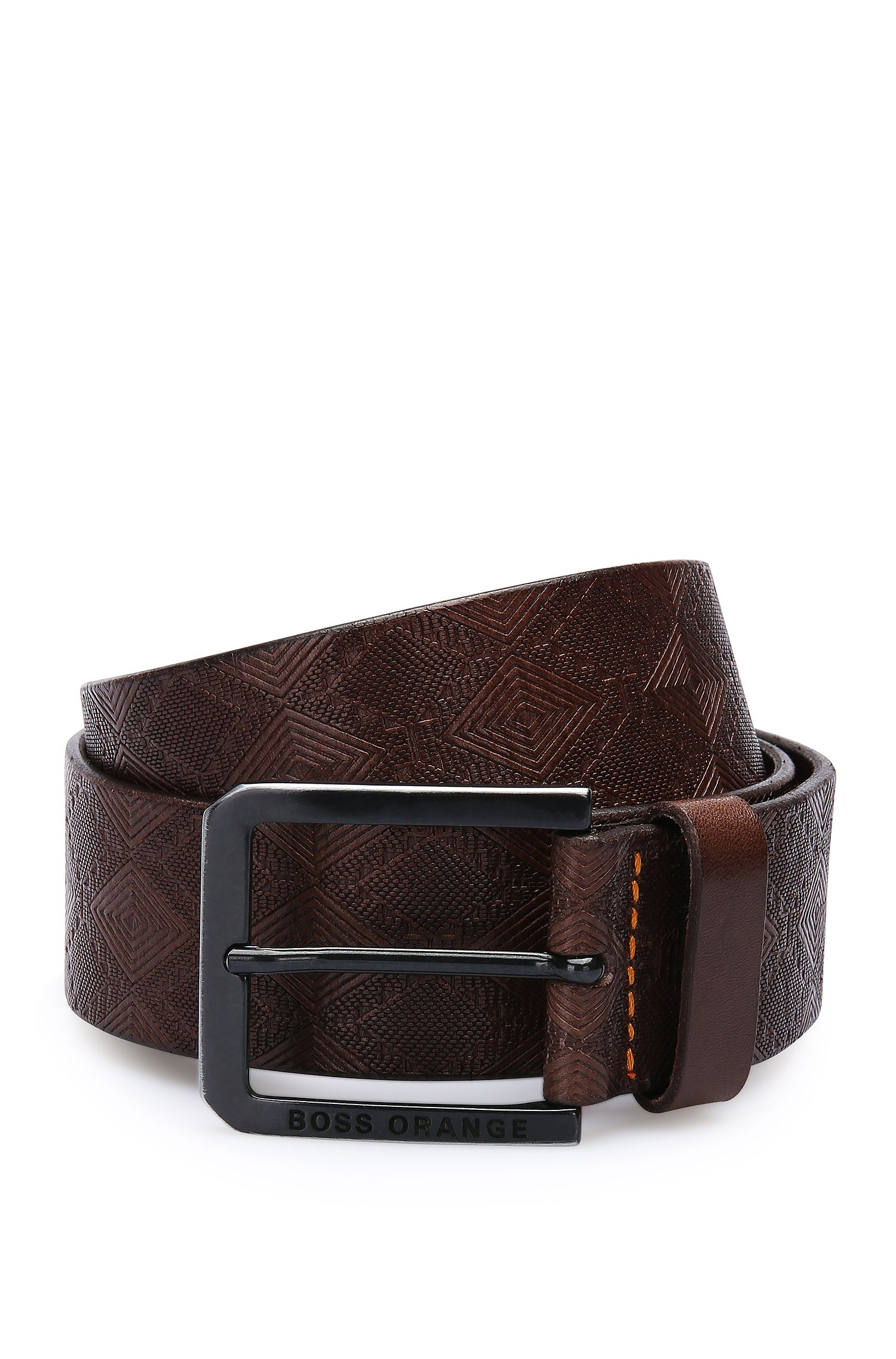 'Jeremyo Sz40 ltem' | Leather Embossed Belt
