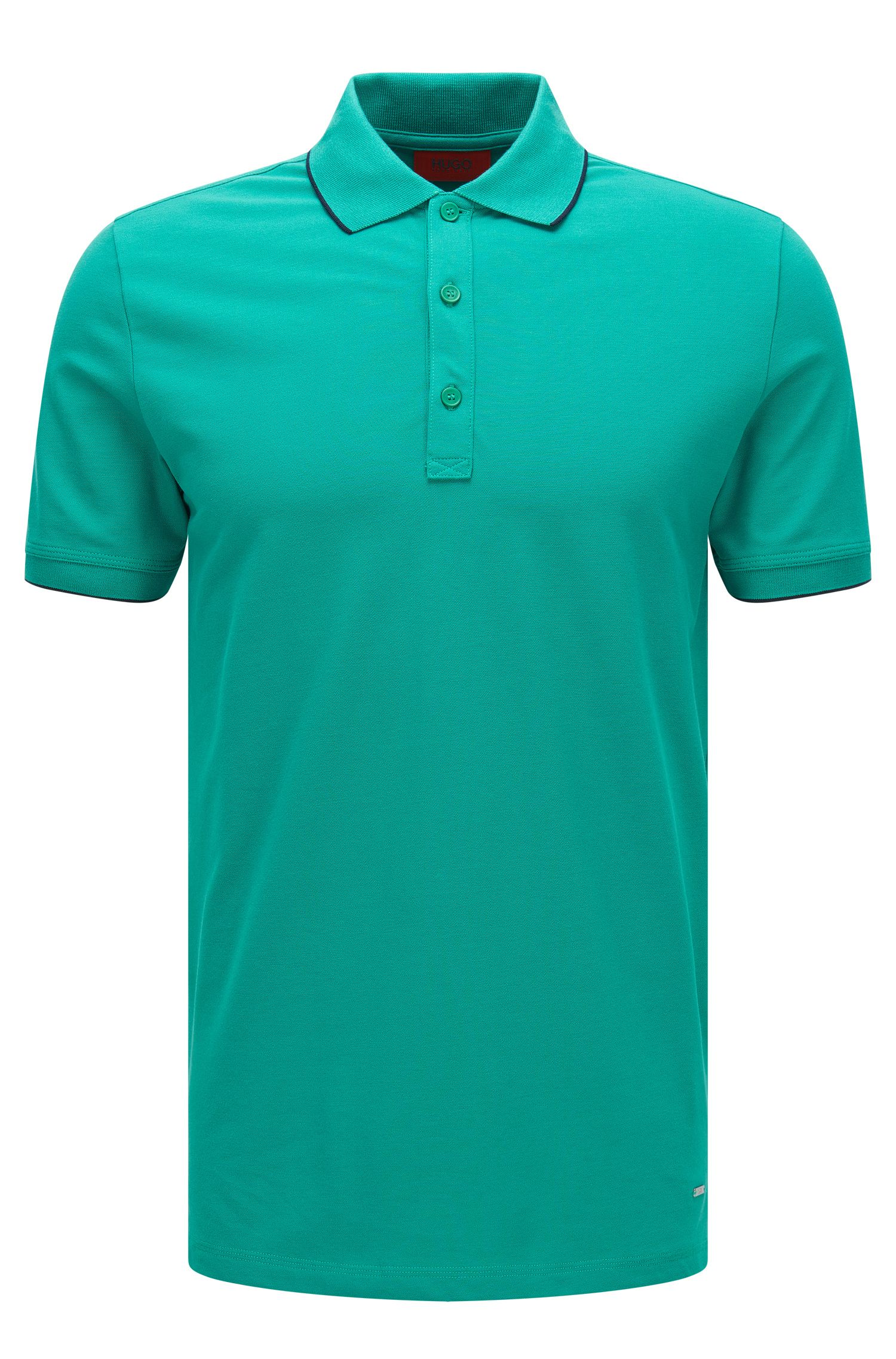 'Delorian' | Slim Fit, Stretch Cotton Polo Shirt