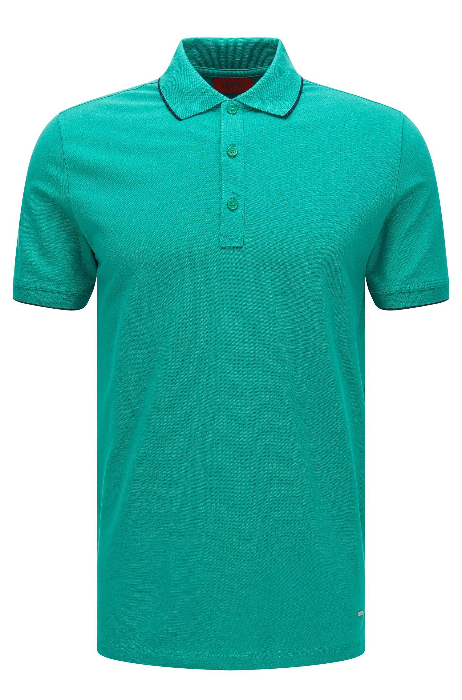 'Delorian'   Slim Fit, Stretch Cotton Polo Shirt