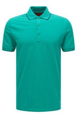 'Delorian' | Slim Fit, Stretch Cotton Polo Shirt, Green