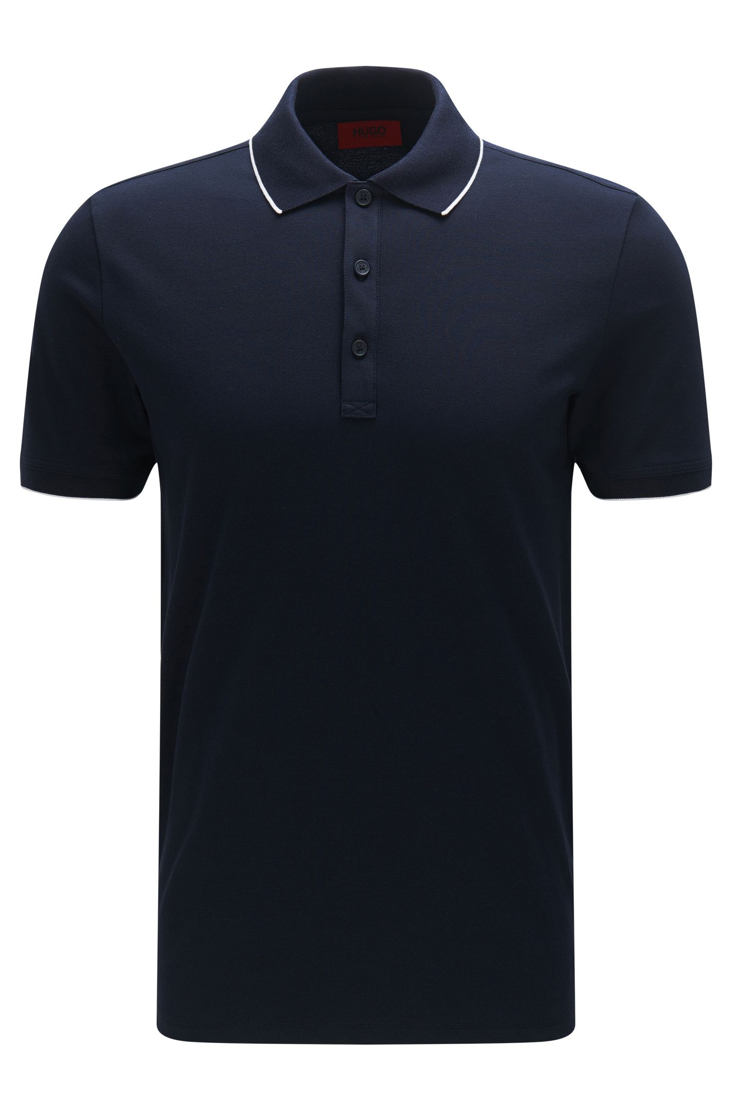 'Delorian' | Slim Fit, Stretch Cotton Polo Shirt
