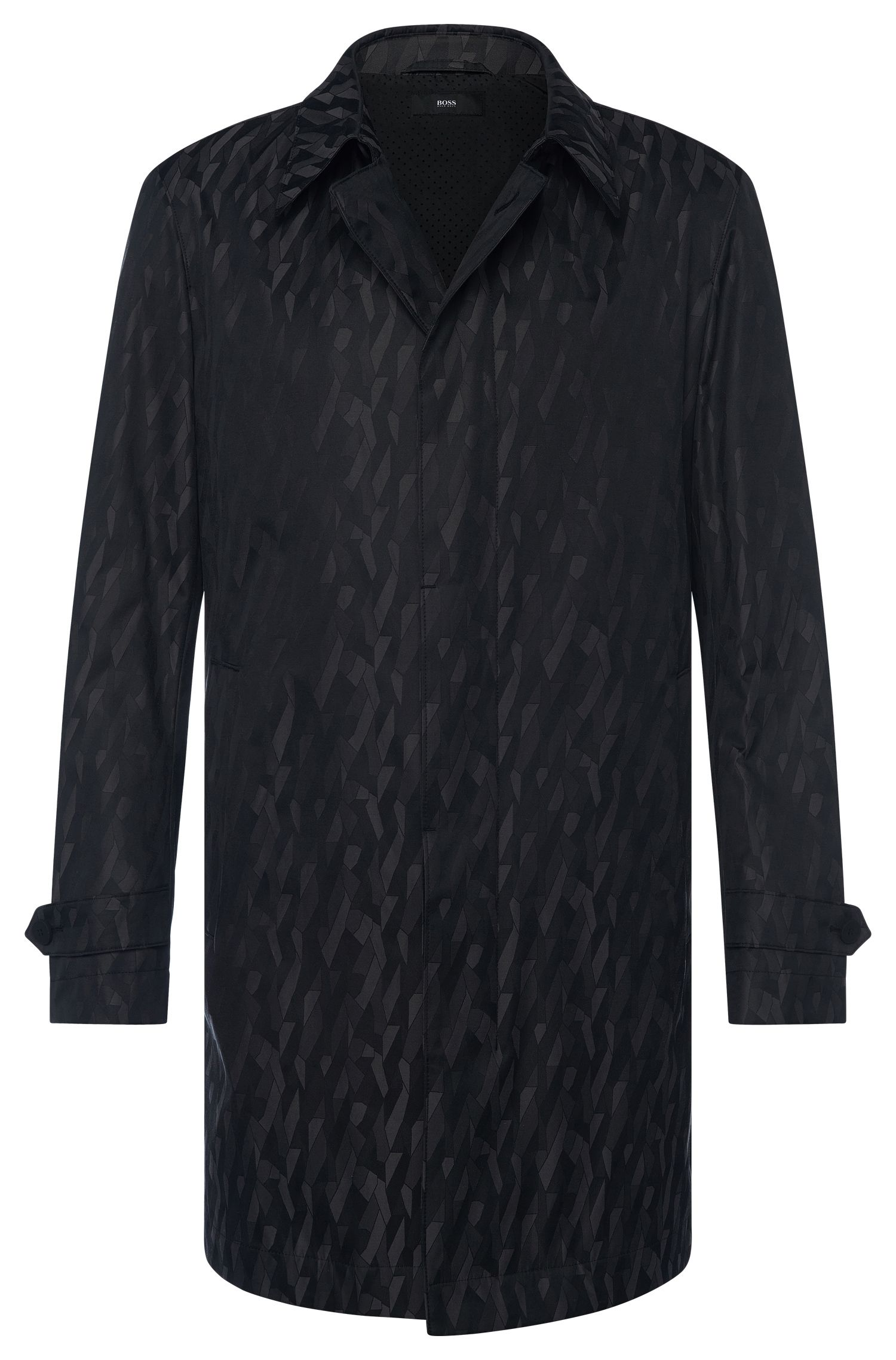 Cotton Blend Packable Water-Repellent Car Coat | Garret
