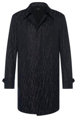 Cotton Blend Packable Water-Repellent Car Coat | Garret, Grey