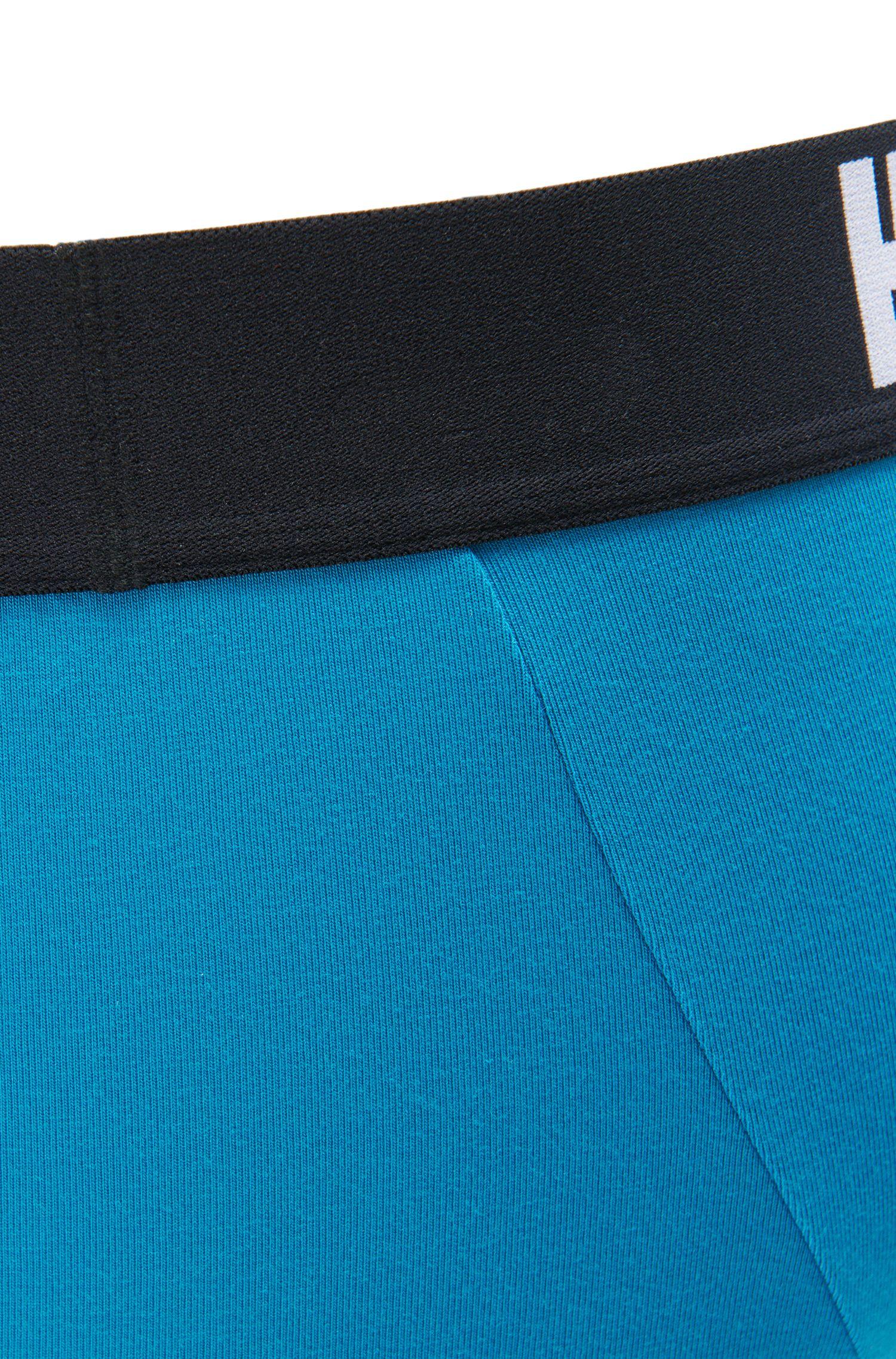 Stretch Cotton Modal Logo Trunk | Trunk Signature, Turquoise