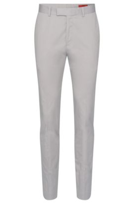 'Herion' | Extra Slim Fit,  Stretch Cotton Pants, Open Grey