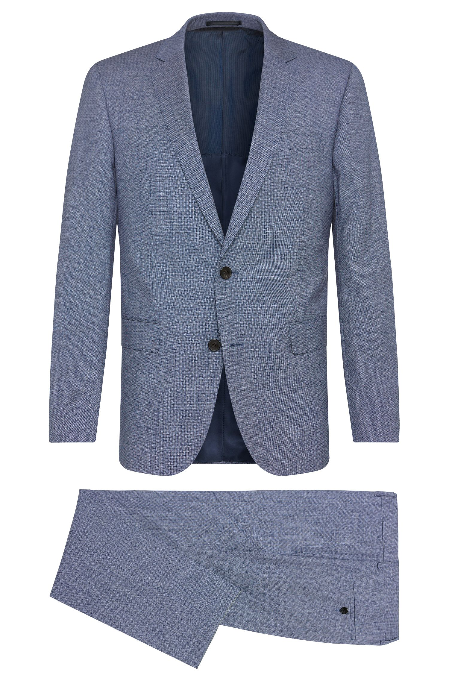'Huge/Genius' | Slim Fit, Italian Super 130 Virgin Wool Suit