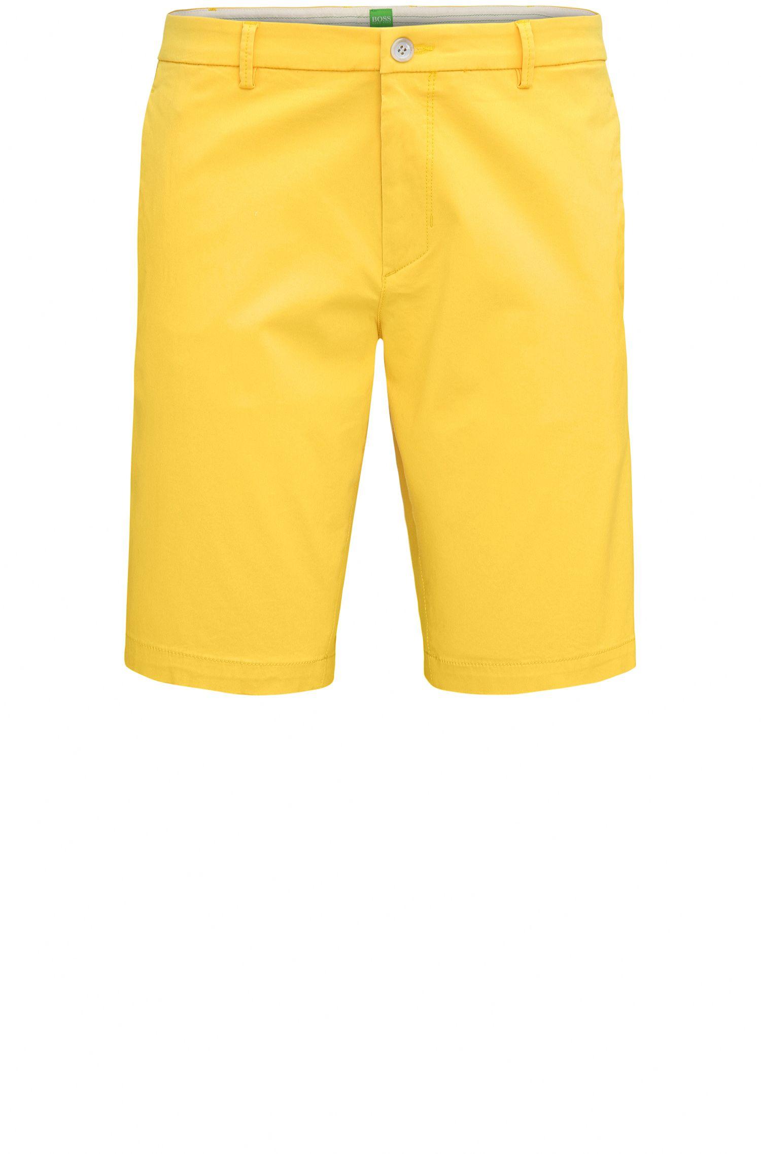 'Liem' | Slim Fit, Satin Stretch Cotton Shorts