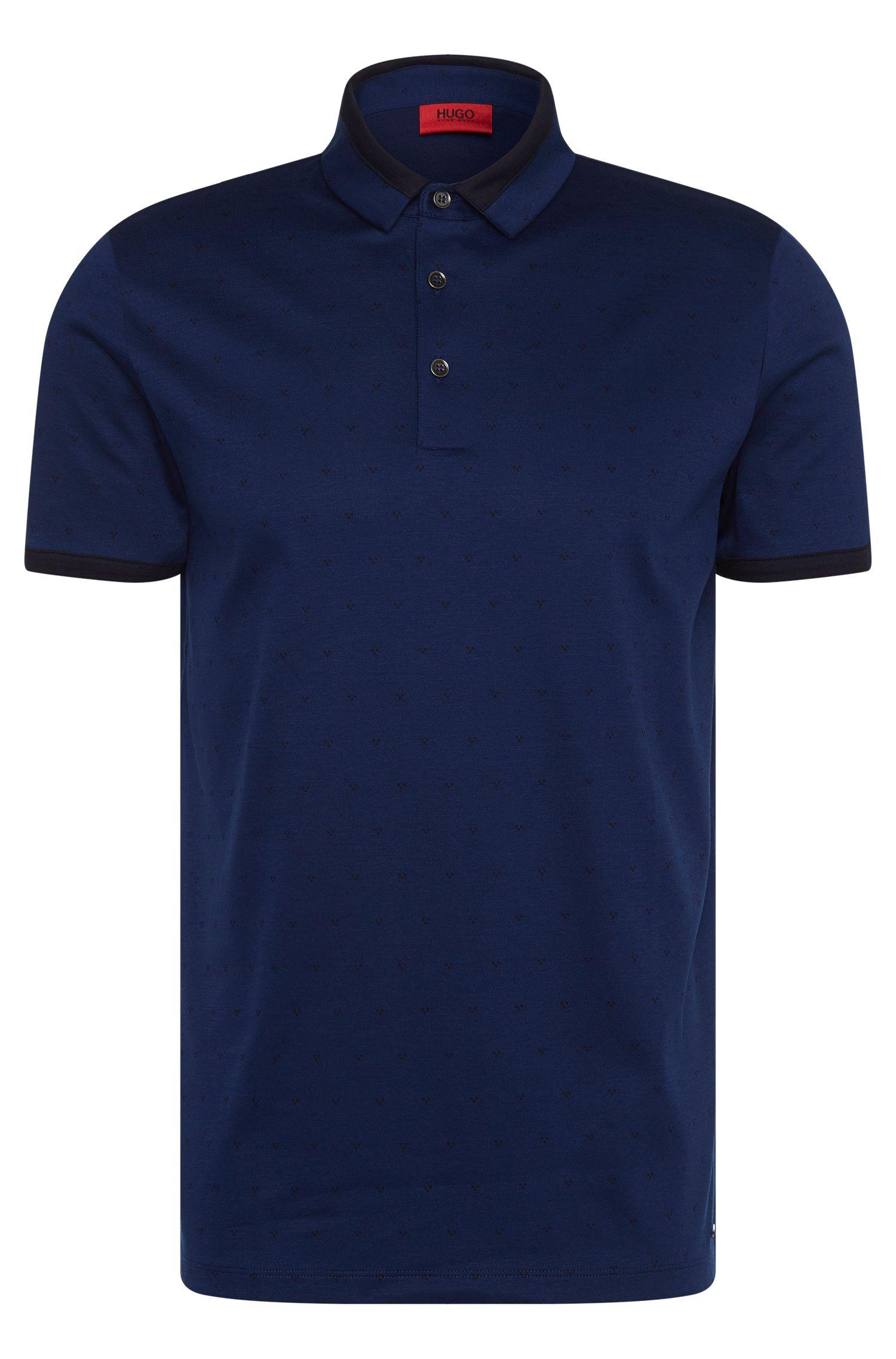 Cotton Jacquard Polo Shirt, Slim Fit | Denno