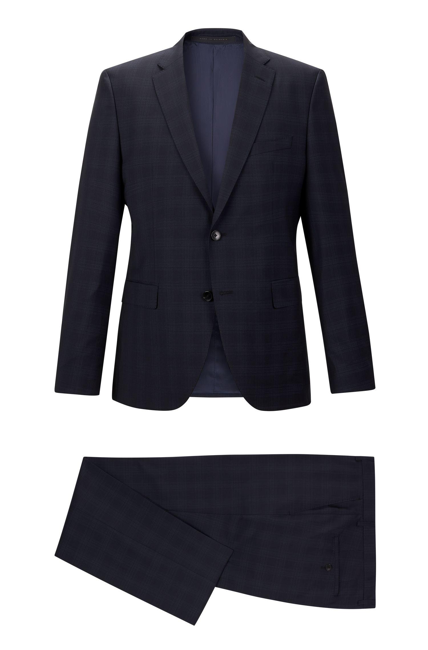 Super 100 Virgin Wool Suit, Regular Fit   Johnston/Lenon