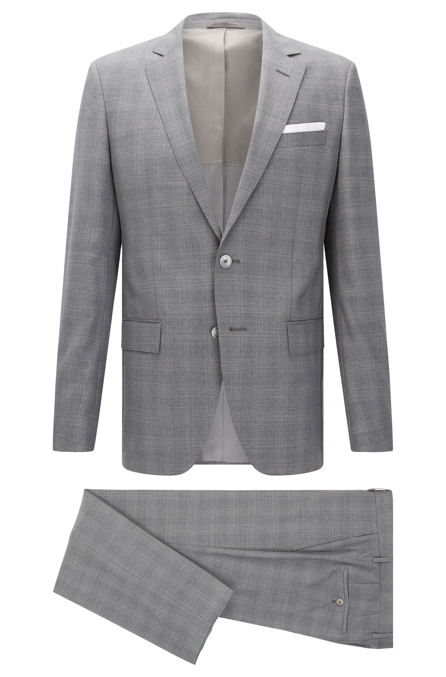 'Hutson/Gander' | Slim Fit, Italian Super 100 Virgin Wool Suit
