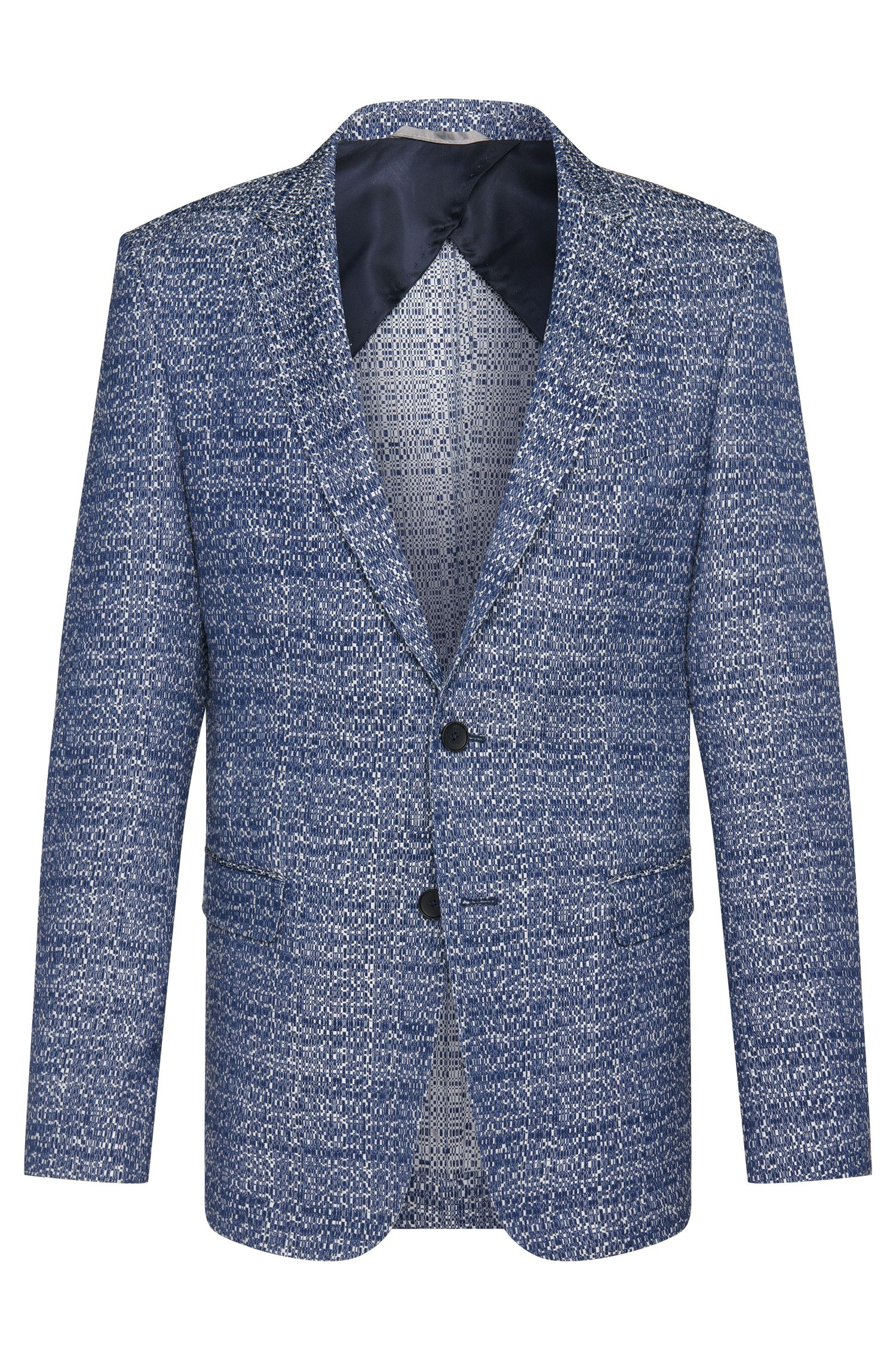 Cotton Blend Jacquard Sport Coat, Slim Fit | Nobis