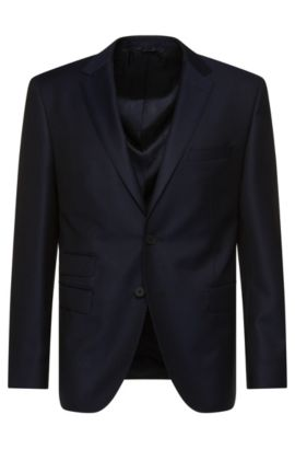 'Jet' | Regular Fit, Italian Super 120 Wool Travel Sport Coat, Dark Blue