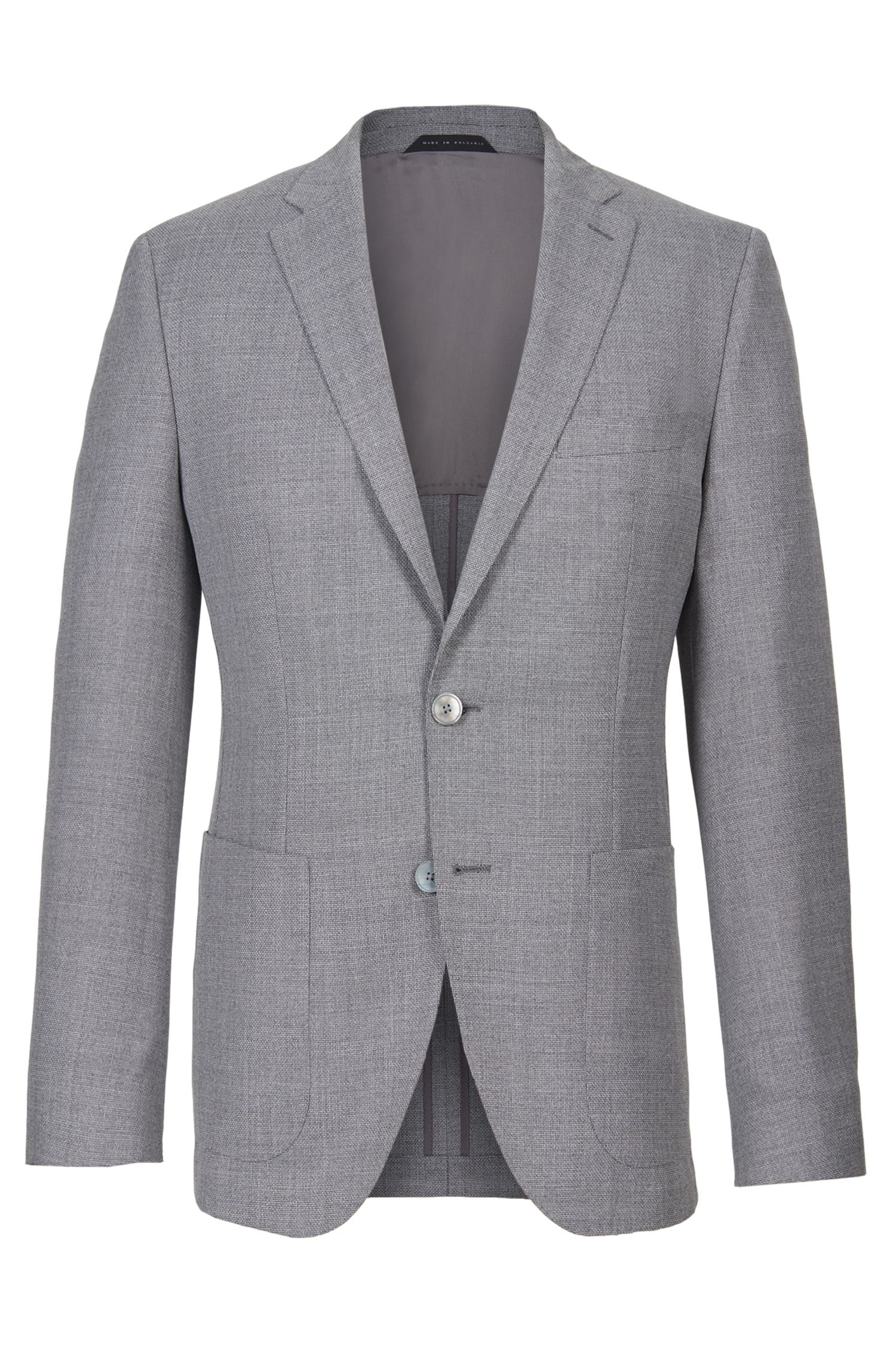 'Janson' | Regular Fit, Textured Super 110 Virgin Wool Sport Coat