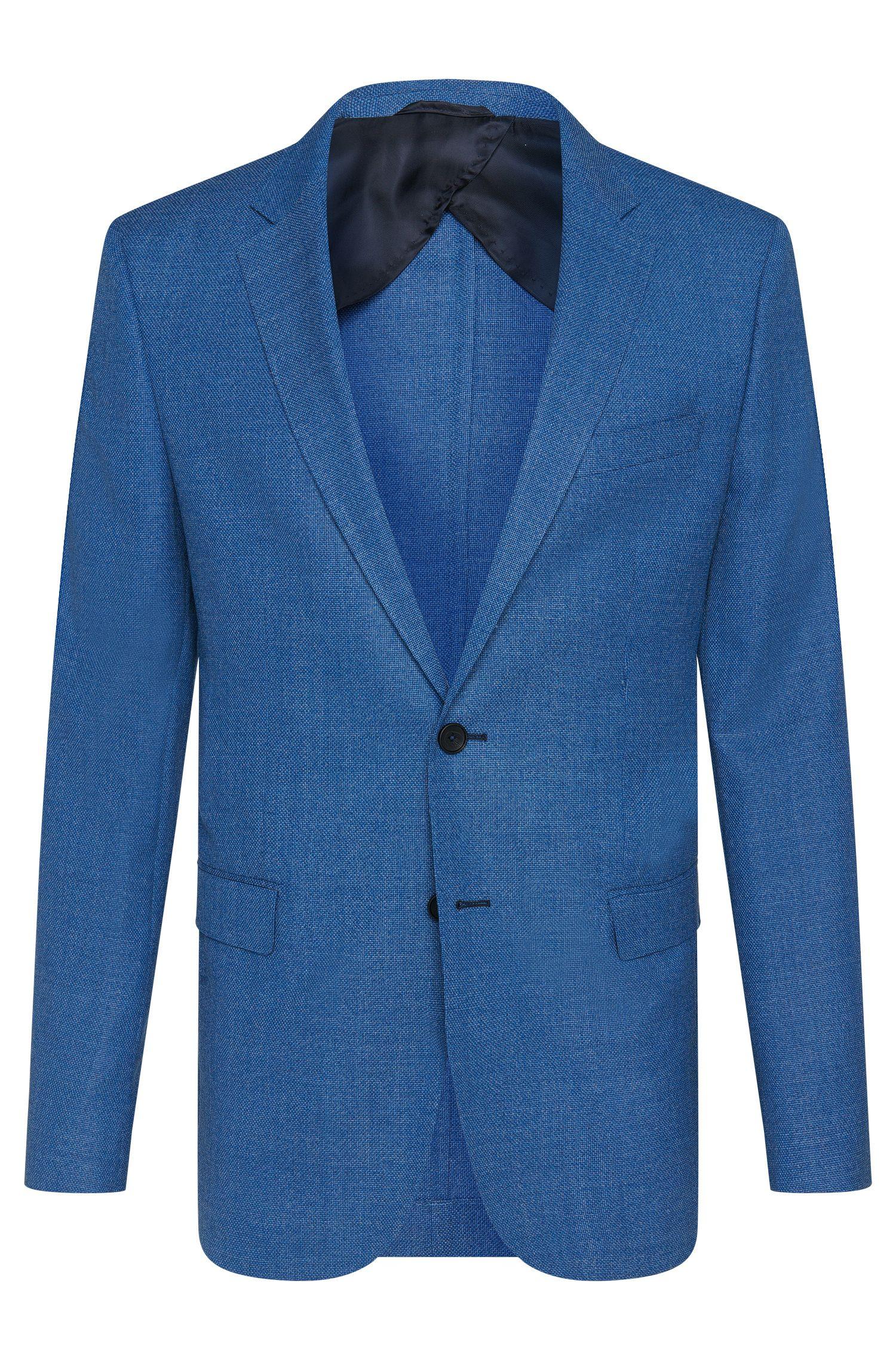 Virgin Wool Sport Coat, Slim Fit | Nobis