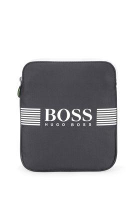 'Pixel S Zip Env' | Nylon Crossbody Bag, Charcoal