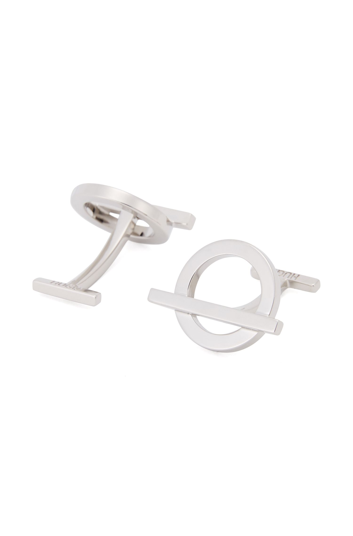 'E-Toggle' | Silver-Plated Brass Cufflinks