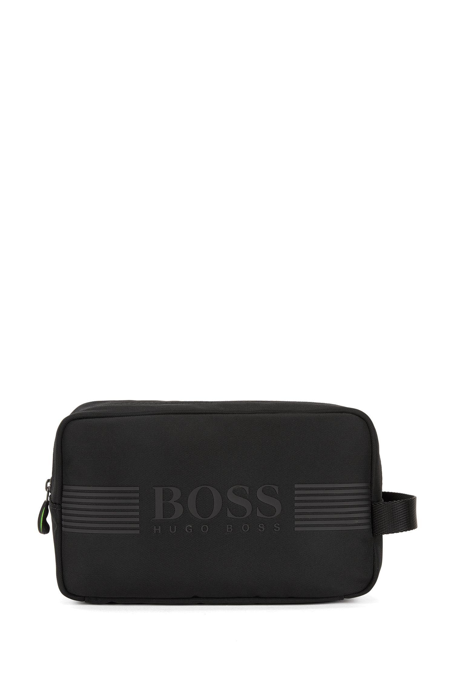 Wash bag in durable nylon, Black