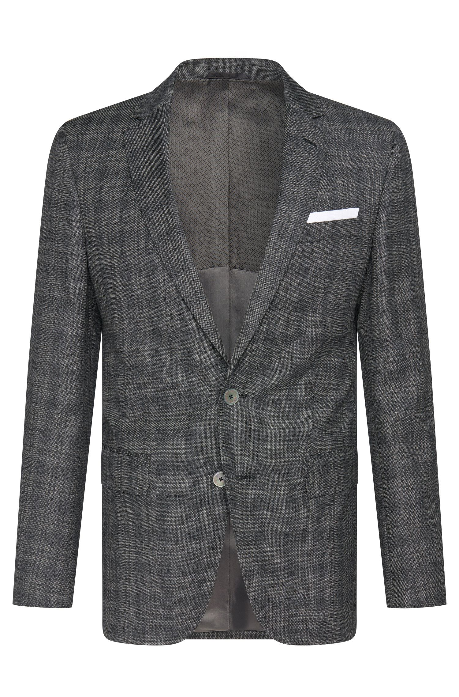 Italian Super 100 Virgin Wool Sport Coat, Slim Fit | Hutsons