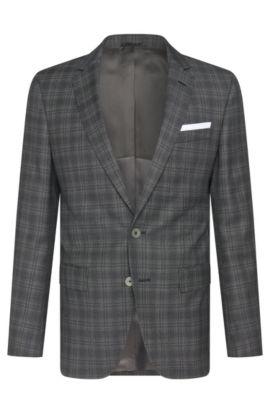 Italian Super 100 Virgin Wool Sport Coat, Slim Fit | Hutsons, Charcoal