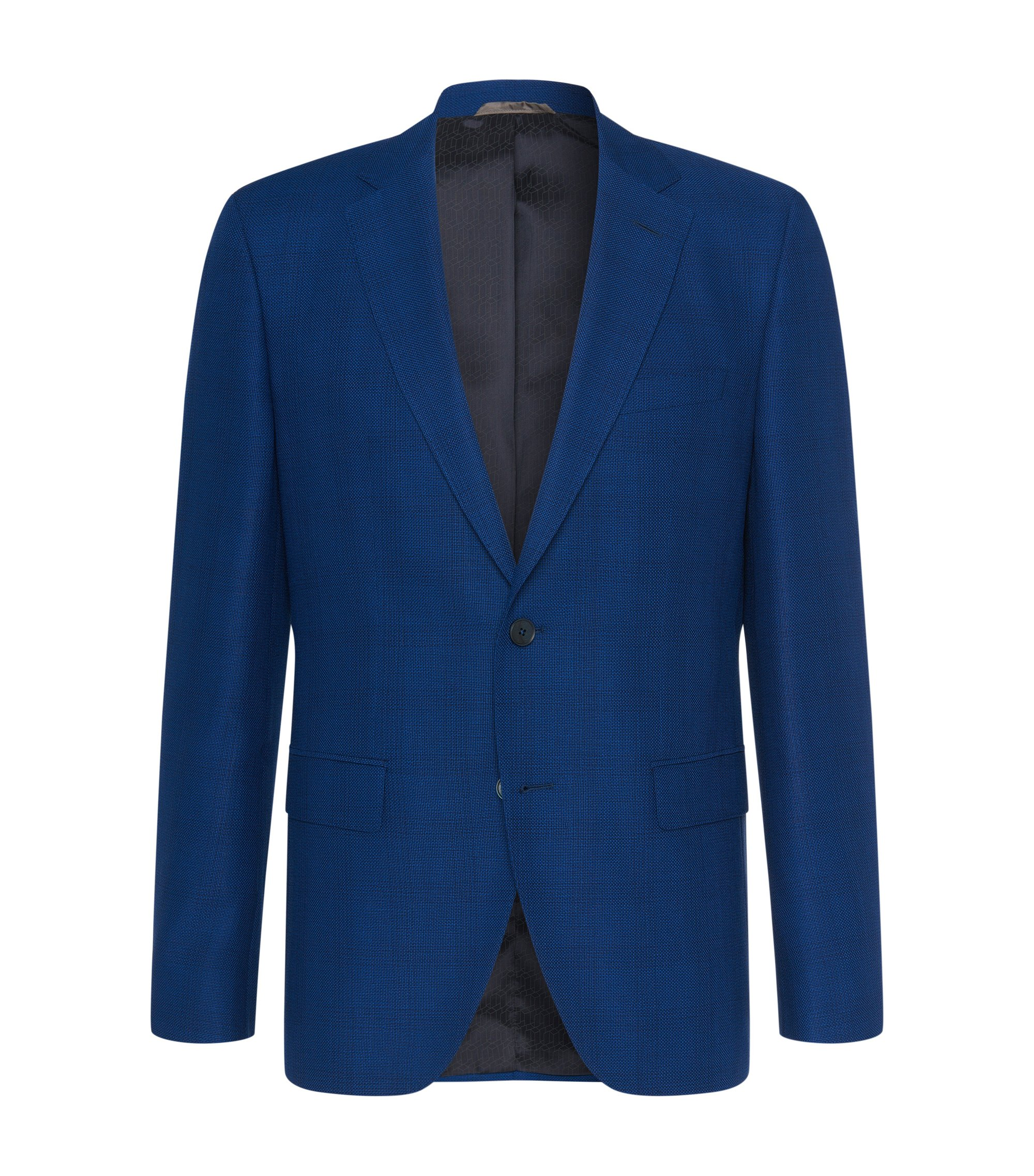 Virgin Wool Sport Coat, Regular Fit | Jewels, Blue