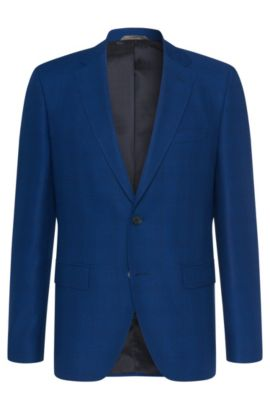 'Jewels' | Regular Fit, Super 100 Virgin Wool Sport Coat, Blue