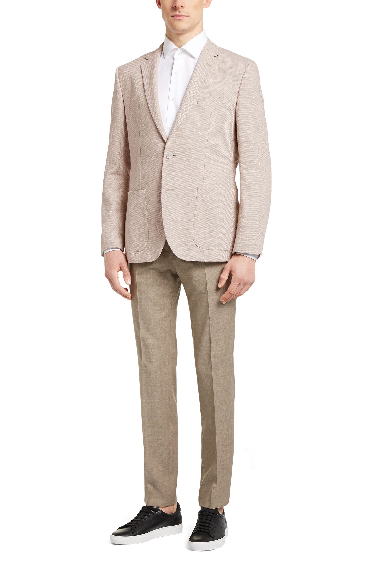 Cotton Textured Sport Coat, Regular Fit | Janson