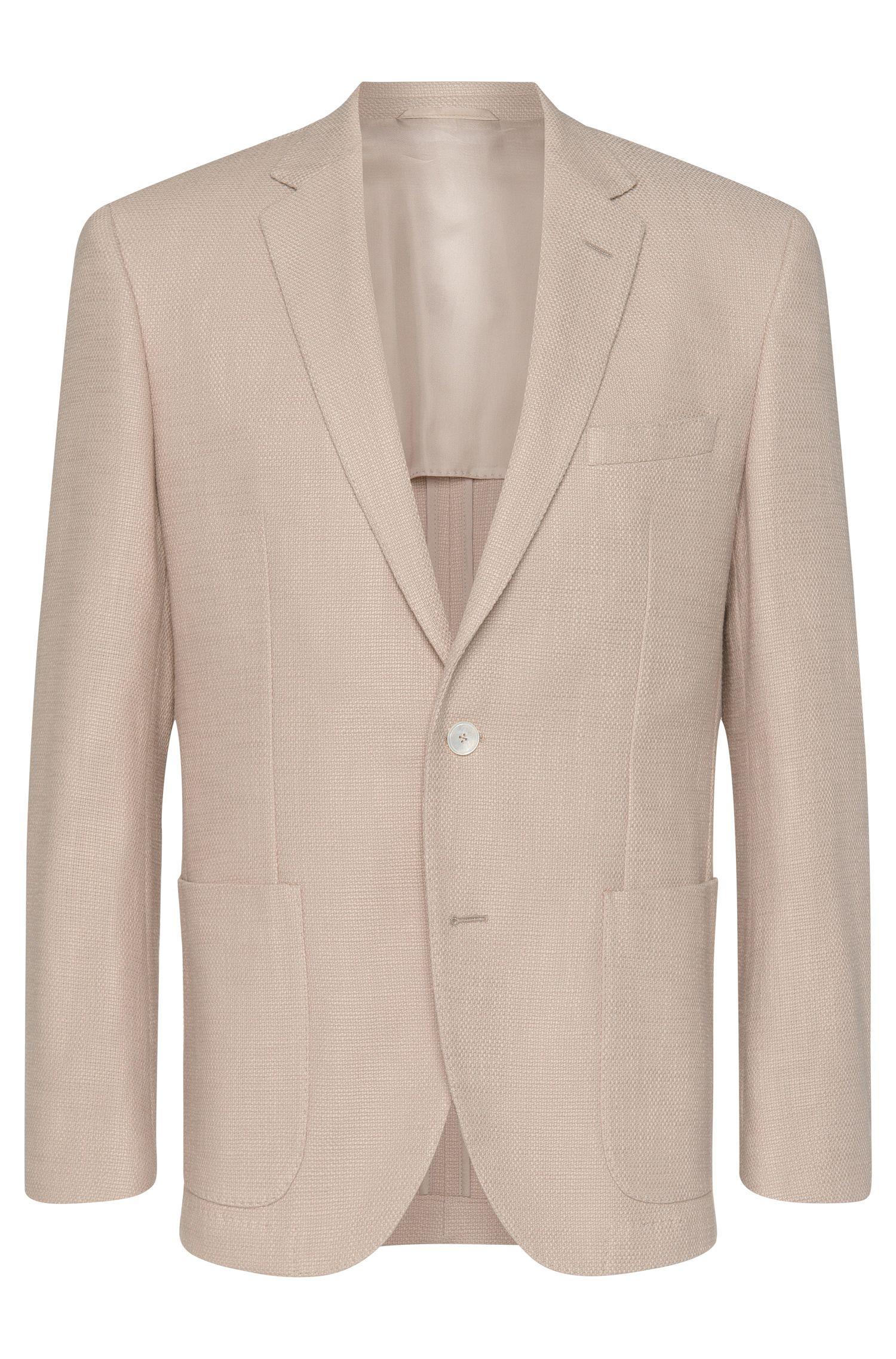Cotton Textured Sport Coat, Regular Fit | Janson