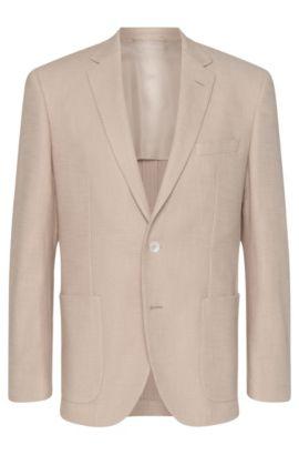 Cotton Textured Sport Coat, Regular Fit | Janson, Natural