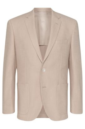 'Janson' | Regular Fit, Cotton Textured Sport Coat, Natural