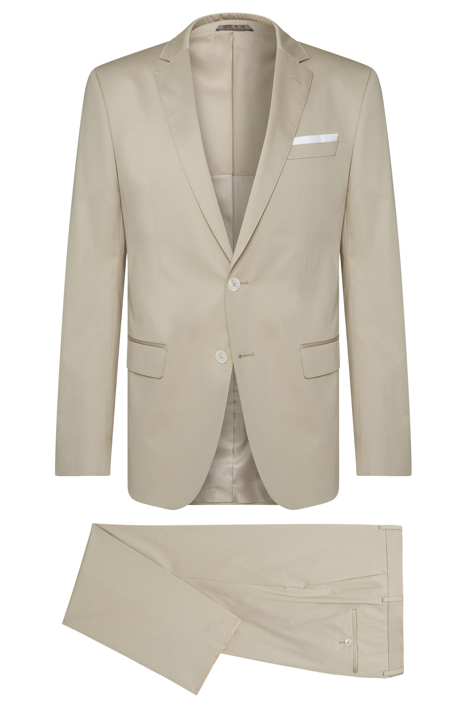 Stretch Cotton Suit, Slim Fit | Hutson/Gander