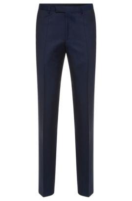 'Lightning' | Regular Fit, Italian Super 120 Virgin Wool Dress Pants, Dark Blue