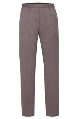 'Benso' | Slim Fit, Super 100 Virgin Wool Dress Pants, Red