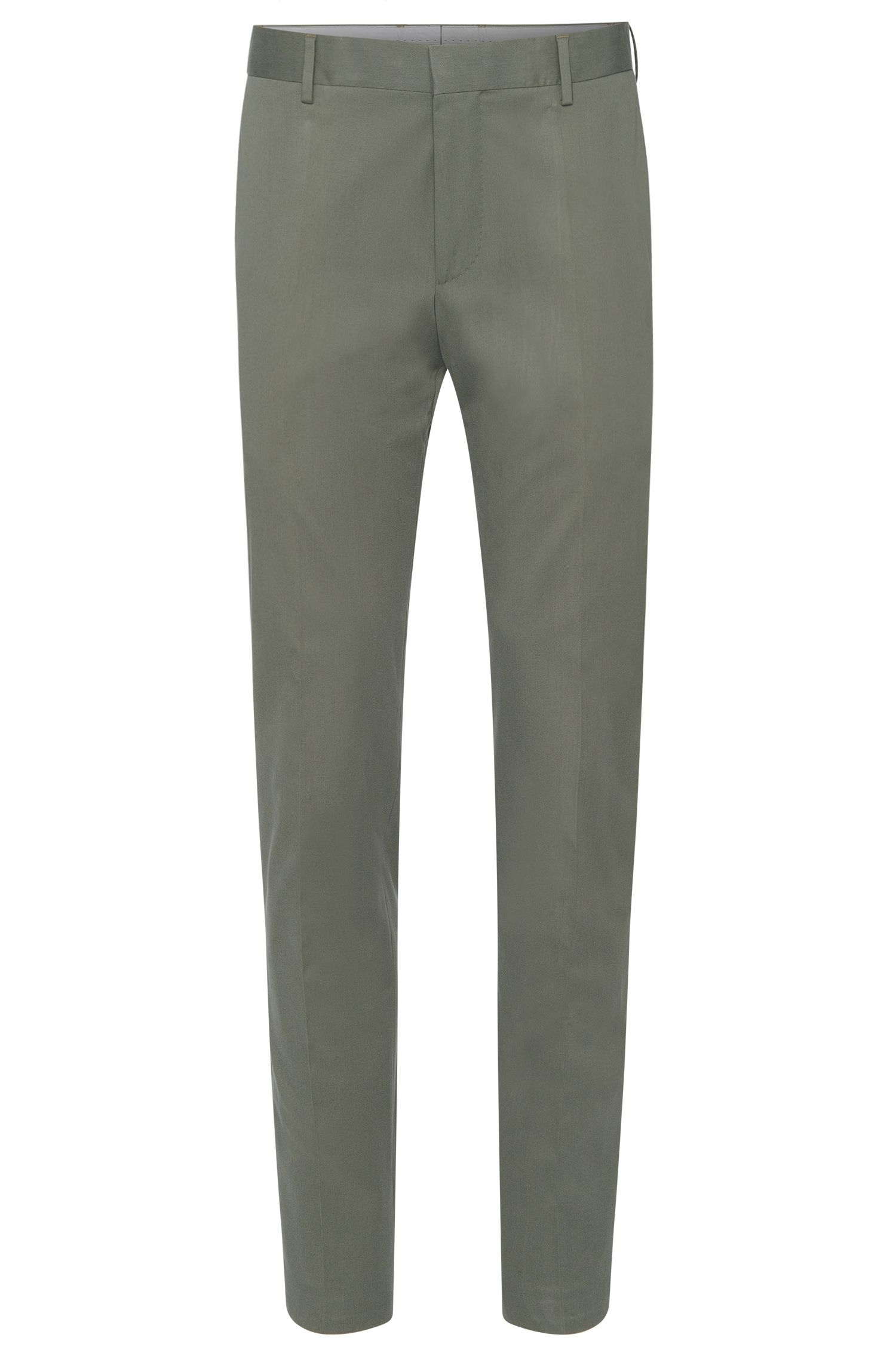 'Bevan'   Slim Fit, Stretch Cotton Trousers
