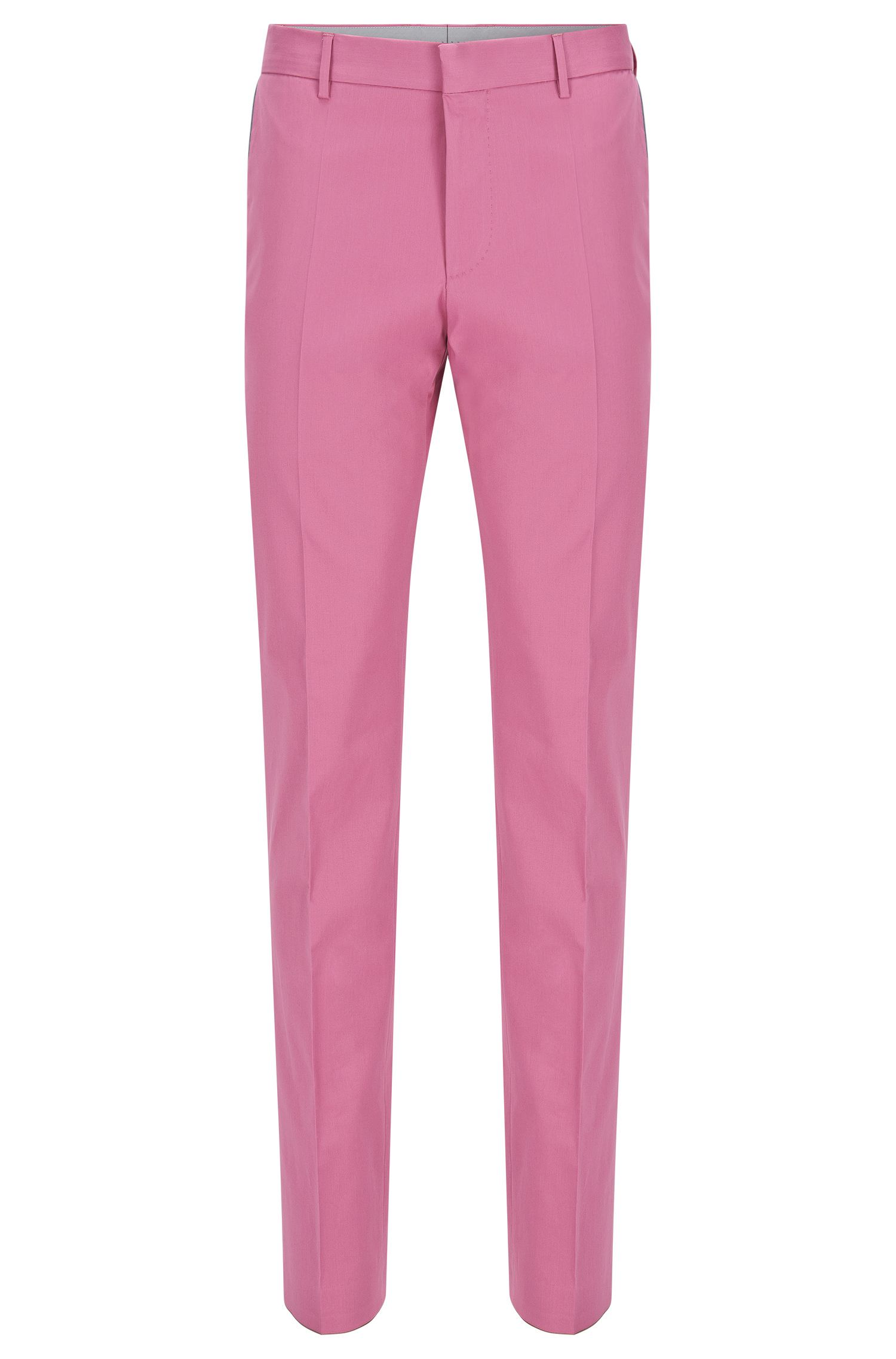 Stretch Cotton Trousers, Slim Fit   Bevan